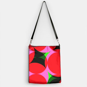 Thumbnail image of Dotty Spotty Geometric Pink Red Green Mix Handbag, Live Heroes