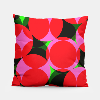 Thumbnail image of Dotty Spotty Geometric Pink Red Green Mix Pillow, Live Heroes