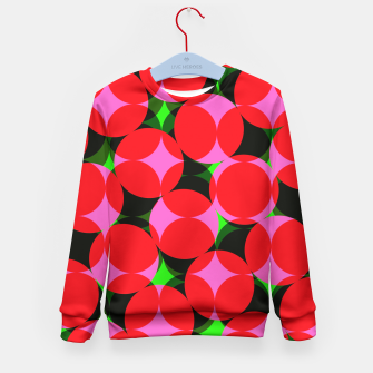 Thumbnail image of Dotty Spotty Geometric Pink Red Green Mix Kid's Sweater, Live Heroes