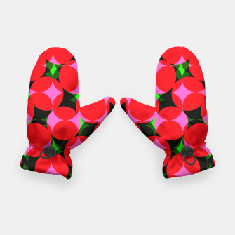 Thumbnail image of Dotty Spotty Geometric Pink Red Green Mix Gloves, Live Heroes