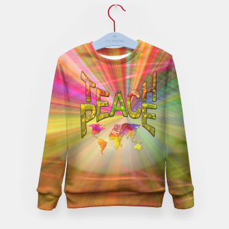 Thumbnail image of Teach Peace Kid's Sweater, Live Heroes