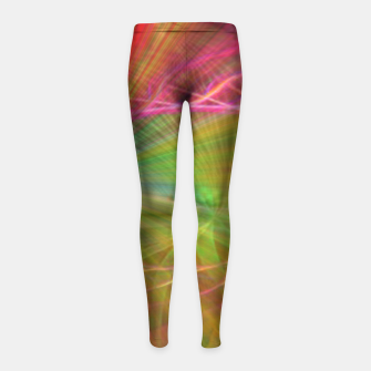 Thumbnail image of Teach Peace Girl's Leggings, Live Heroes
