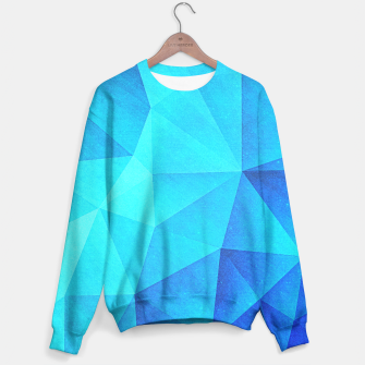 Miniature de image de Blue Crystal (Low poly Pattern) Sweater, Live Heroes