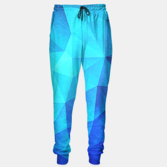 Miniatur Blue Crystal (Low poly Pattern) Sweatpants, Live Heroes