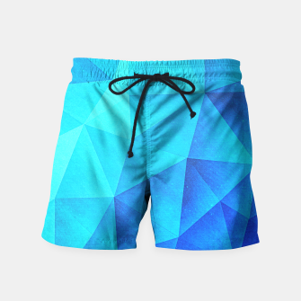 Miniature de image de Blue Crystal (Low poly Pattern) Swim Shorts, Live Heroes