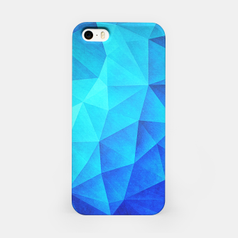 Miniature de image de Blue Crystal (Low poly Pattern) iPhone Case, Live Heroes