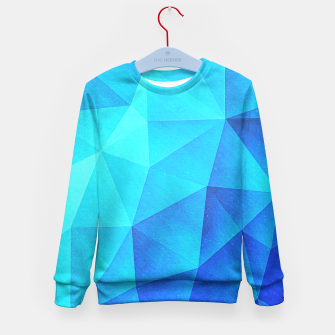 Miniature de image de Blue Crystal (Low poly Pattern) Kid's Sweater, Live Heroes