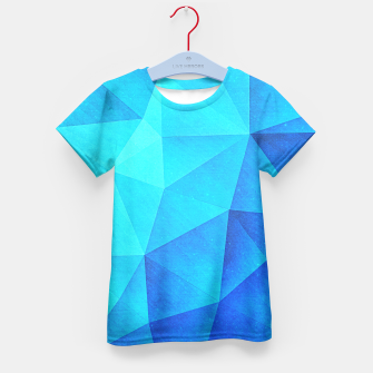 Miniature de image de Blue Crystal (Low poly Pattern) Kid's T-shirt, Live Heroes
