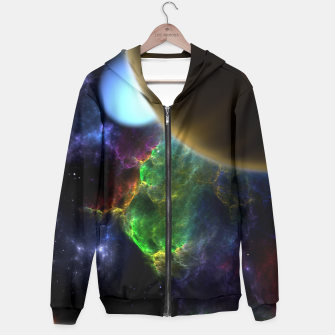 Thumbnail image of Exploration Of Space Fractal Sci-Fi Landscape Zip up hoodie, Live Heroes