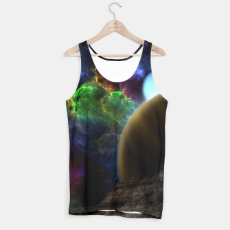 Thumbnail image of Exploration Of Space Fractal Sci-Fi Landscape Tank Top, Live Heroes