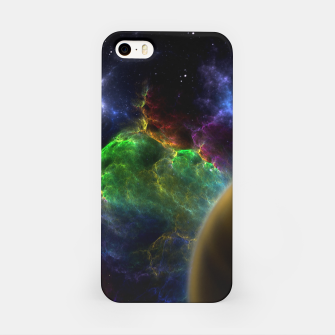 Thumbnail image of Exploration Of Space Fractal Sci-Fi Landscape iPhone Case, Live Heroes