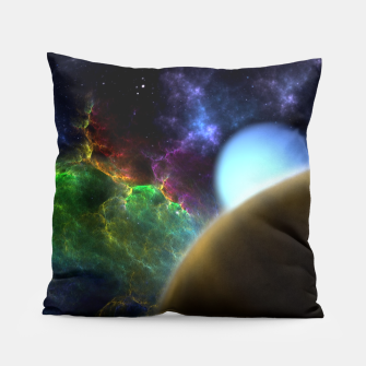Thumbnail image of Exploration Of Space Fractal Sci-Fi Landscape Pillow, Live Heroes