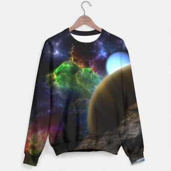 Thumbnail image of Exploration Of Space Fractal Sci-Fi Landscape Unisex sweater, Live Heroes