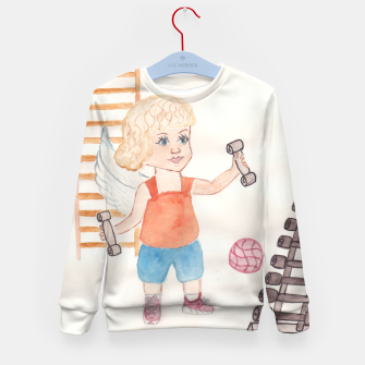 Thumbnail image of Fitness Angel Kid's Sweater, Live Heroes