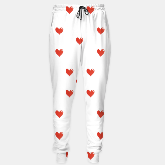 Miniatur Cute Hearts Motif Pattern Sweatpants, Live Heroes