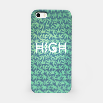 Miniature de image de HIGH! Typo Design Weed - Dope Leaf Pattern  iPhone Case, Live Heroes