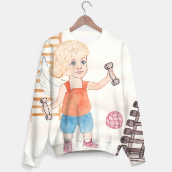 Thumbnail image of Fitness Angel Sweater, Live Heroes