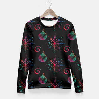 Miniatur Christmas Crayons Stars  Fitted Waist Sweater, Live Heroes