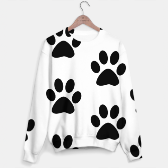 Paws Black and White Sweater obraz miniatury