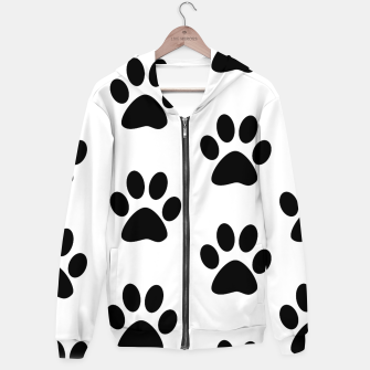 Paws Black and White Hoodie obraz miniatury