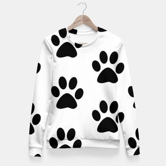 Paws Black and White Fitted Waist Sweater obraz miniatury