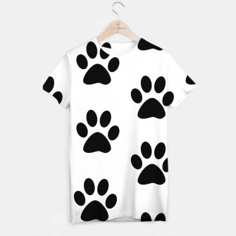 Paws Black and White T-shirt obraz miniatury