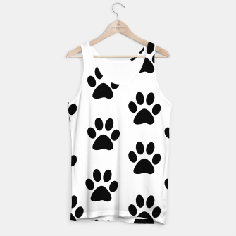 Paws Black and White Tank Top obraz miniatury