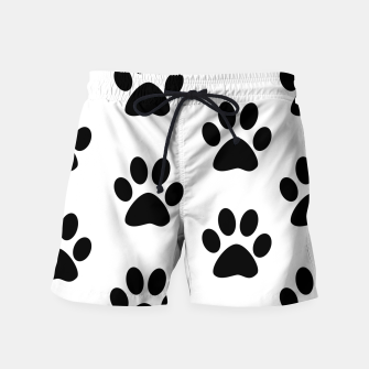 Paws Black and White Swim Shorts obraz miniatury