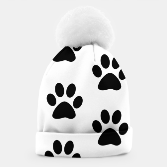 Paws Black and White Beanie obraz miniatury