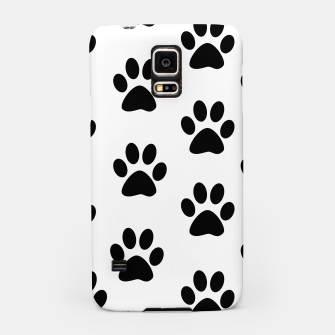 Paws Black and White Samsung Case obraz miniatury