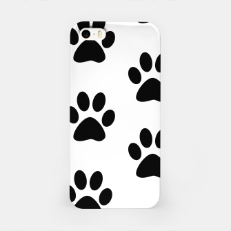 Paws Black and White iPhone Case obraz miniatury