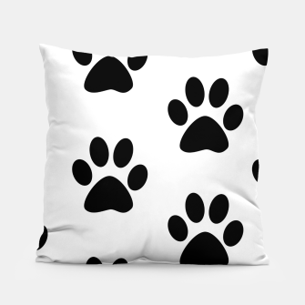 Paws Black and White Pillow obraz miniatury