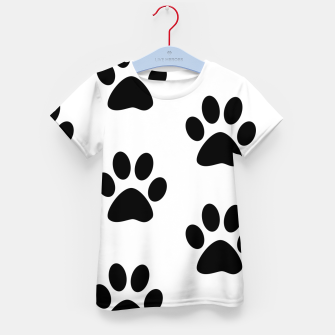 Paws Black and White Kid's T-shirt obraz miniatury