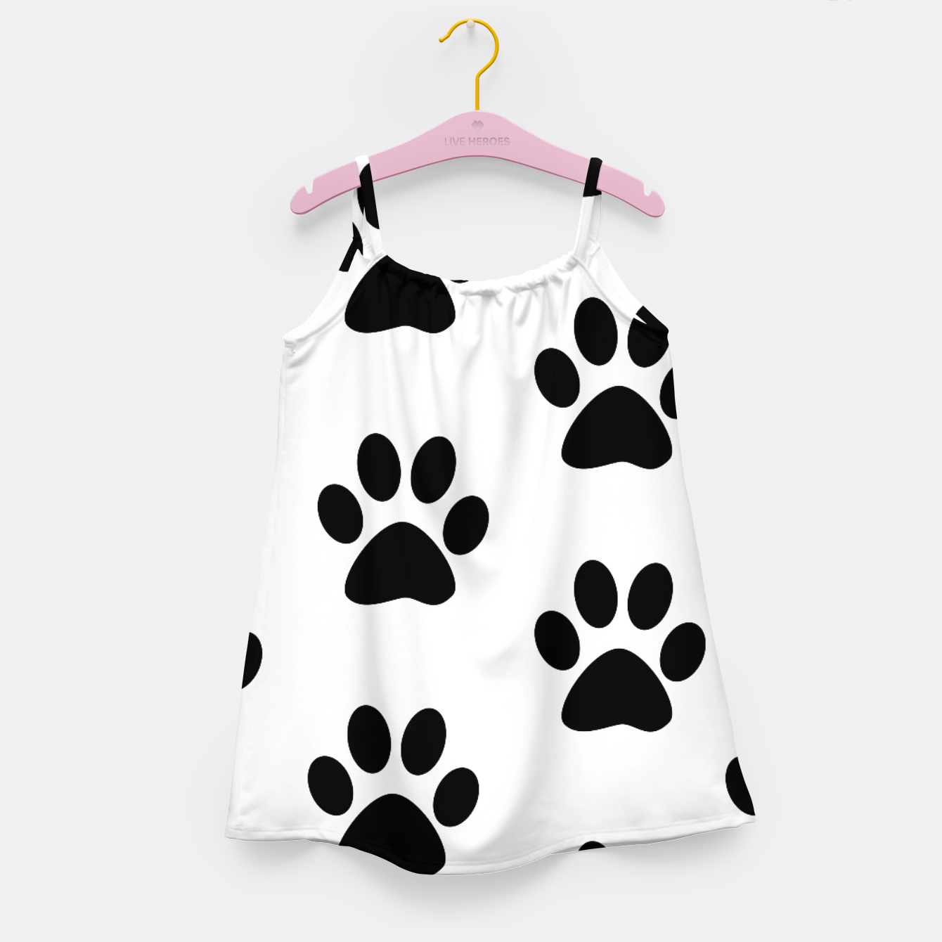 Zdjęcie Paws Black and White Girl's Dress - Live Heroes