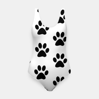 Paws Black and White Swimsuit obraz miniatury
