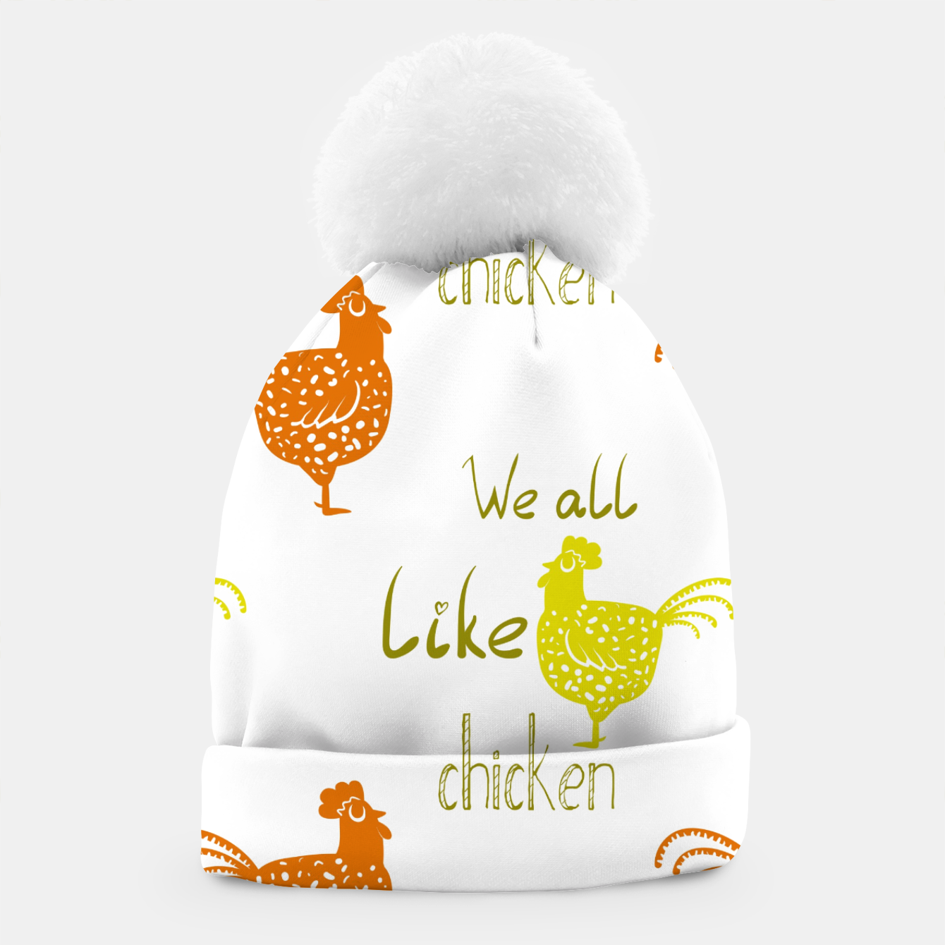 Image of We all like chicken Beanie - Live Heroes