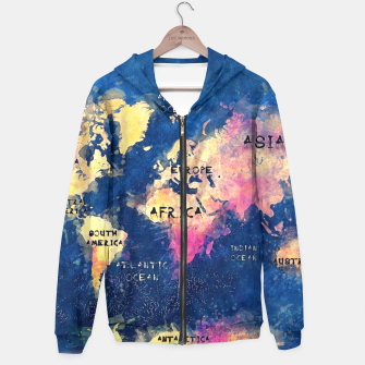 Thumbnail image of world map oceans and continents Hoodie, Live Heroes