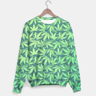 Miniature de image de Cannabis Dope Weed / Hemp Leaf Pattern Design Sweater, Live Heroes