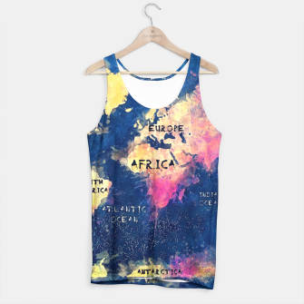 world map oceans and continents Tank Top obraz miniatury