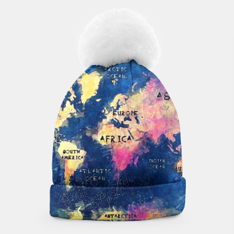 world map oceans and continents Beanie obraz miniatury