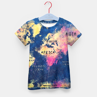 world map oceans and continents Kid's T-shirt obraz miniatury