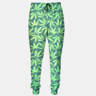 Miniature de image de Cannabis Dope Weed / Hemp Leaf Pattern Design Sweatpants, Live Heroes