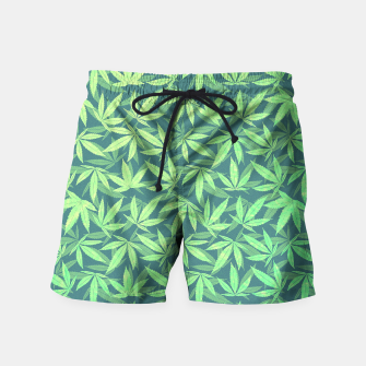 Miniature de image de Cannabis Dope Weed / Hemp Leaf Pattern Design Swim Shorts, Live Heroes