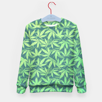 Miniature de image de Cannabis Dope Weed / Hemp Leaf Pattern Design Kid's Sweater, Live Heroes