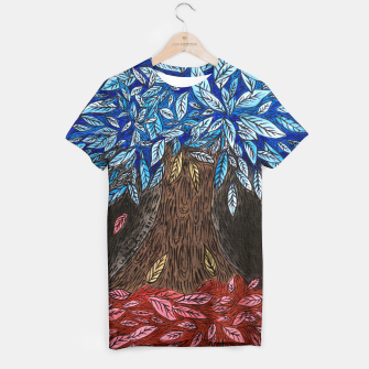 Thumbnail image of Blue Leaves T-shirt, Live Heroes