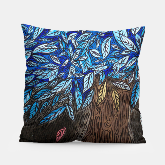 Thumbnail image of Blue Leaves Pillow, Live Heroes