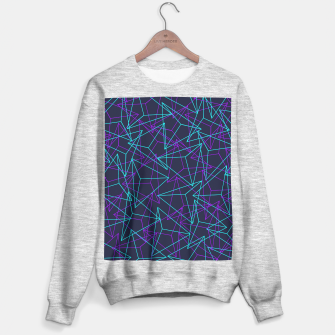 Miniature de image de Abstract Geometric 3D Triangle Pattern in  turquoise/ purple  Sweater regular, Live Heroes