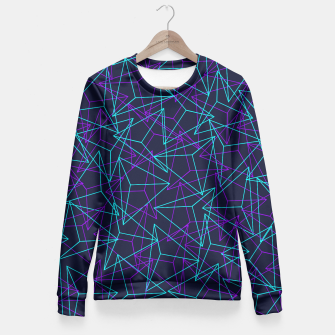 Miniature de image de Abstract Geometric 3D Triangle Pattern in  turquoise/ purple  Fitted Waist Sweater, Live Heroes