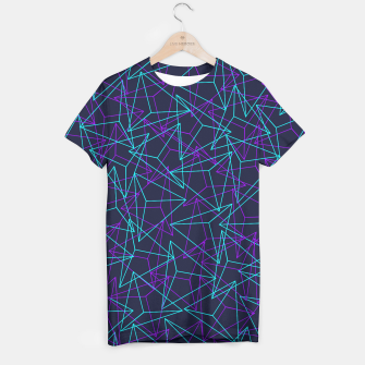 Miniature de image de Abstract Geometric 3D Triangle Pattern in  turquoise/ purple  T-shirt, Live Heroes