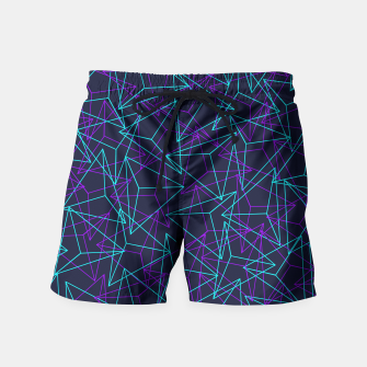 Miniature de image de Abstract Geometric 3D Triangle Pattern in  turquoise/ purple  Swim Shorts, Live Heroes